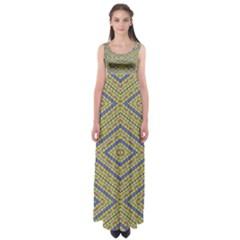 NO VACCINE Empire Waist Maxi Dress
