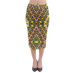 Knotwo Vac Sign Eight Midi Pencil Skirt