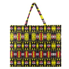 Vacs Sin Eight One Zipper Large Tote Bag