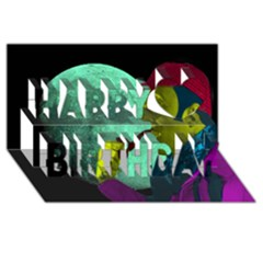 Sherlock Holmes Happy Birthday 3D Greeting Card (8x4)