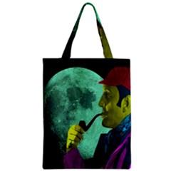 Sherlock Holmes Zipper Classic Tote Bag