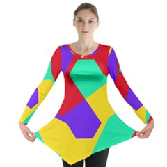 Colorful Misc Shapes                                                  Long Sleeve Tunic