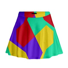 Colorful Misc Shapes                                                    Mini Flare Skirt
