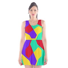 Colorful misc shapes                                                  Scoop Neck Skater Dress