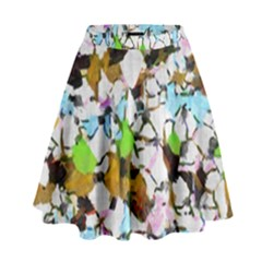 Brush strokes on a white background                                                     High Waist Skirt