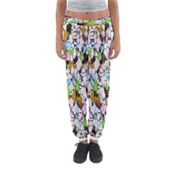 Brush Strokes On A White Background                                                   Women s Jogger Sweatpants