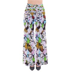 Brush Strokes On A White Background                                  Women s Chic Palazzo Pants