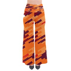 Brown Orange Shapes                                   Women s Chic Palazzo Pants