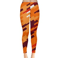 Brown orange shapes                                                    Leggings