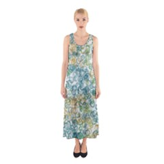 Fading Shapes Texture                                                    Full Print Maxi Dress