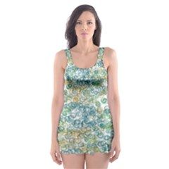 Fading shapes texture                                                    Skater Dress Swimsuit