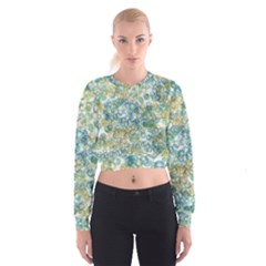 Fading shapes texture                                                      Women s Cropped Sweatshirt