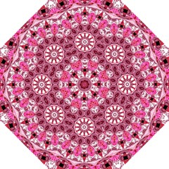 Twirling Pink, Abstract Candy Lace Jewels Mandala  Straight Umbrellas