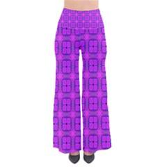 Abstract Dancing Diamonds Purple Violet Women s Chic Palazzo Pants