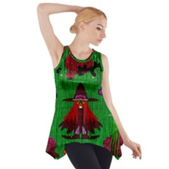 Lady Panda In Everglades Side Drop Tank Tunic