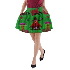Lady Panda In Everglades A-Line Pocket Skirt