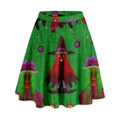 Lady Panda In Everglades High Waist Skirt