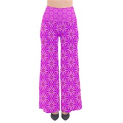 Pink Snowflakes Spinning In Winter Women s Chic Palazzo Pants