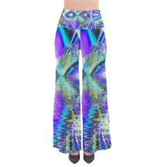 Abstract Peacock Celebration, Golden Violet Teal Pants