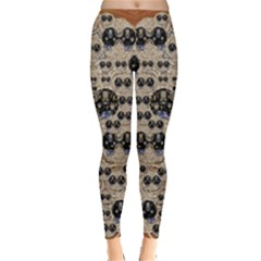 Cats With Hats In The Starry Dark Night Leggings