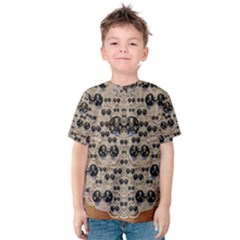 Cats With Hats In The Starry Dark Night Kid s Cotton Tee