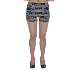 Cats With Hats In The Starry Dark Night Skinny Shorts