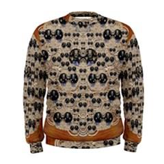 Cats With Hats In The Starry Dark Night Men s Sweatshirt