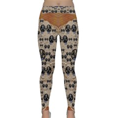 Cats With Hats In The Starry Dark Night Yoga Leggings