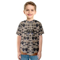 Cats With Hats In The Starry Dark Night Kid s Sport Mesh Tee