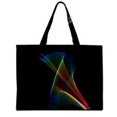 Abstract Rainbow Lily, Colorful Mystical Flower  Large Tote Bag