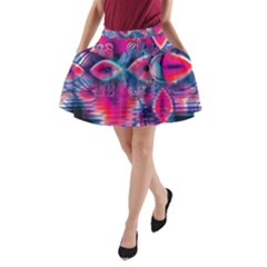 Cosmic Heart Of Fire, Abstract Crystal Palace A Line Pocket Skirt