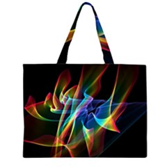 Aurora Ribbons, Abstract Rainbow Veils  Large Tote Bag