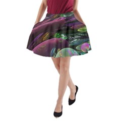 Creation Of The Rainbow Galaxy, Abstract A-Line Pocket Skirt