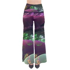 Creation Of The Rainbow Galaxy, Abstract Women s Chic Palazzo Pants