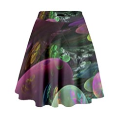 Creation Of The Rainbow Galaxy, Abstract High Waist Skirt