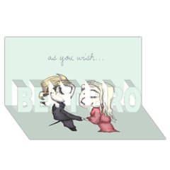 As You Wish BEST BRO 3D Greeting Card (8x4)