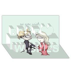 As You Wish Best Wish 3D Greeting Card (8x4)
