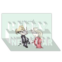 As You Wish Happy New Year 3d Greeting Card (8x4)