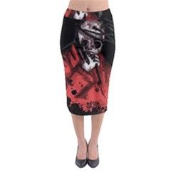 Number Eight Self Titled  Midi Pencil Skirt