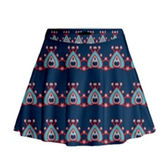 Hearts pattern                                                        Mini Flare Skirt