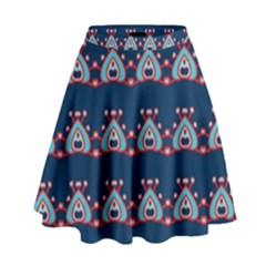 Hearts Pattern                                                        High Waist Skirt