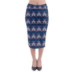 Hearts pattern                                                        Midi Pencil Skirt