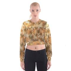 Water Oil Paint                                                         Women s Cropped Sweatshirt