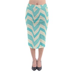 Blue waves pattern                                                           Midi Pencil Skirt