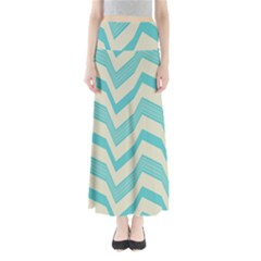 Blue waves pattern           Women s Maxi Skirt