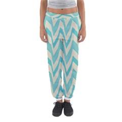 Blue waves pattern                                                         Women s Jogger Sweatpants