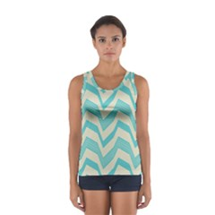 Blue Waves Pattern                                                         Women s Sport Tank Top