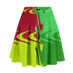 Wavy Shapes                                                           High Waist Skirt