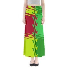Wavy shapes           Women s Maxi Skirt