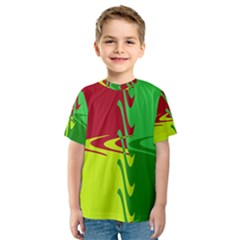 Wavy shapes                                                         Kid s Sport Mesh Tee